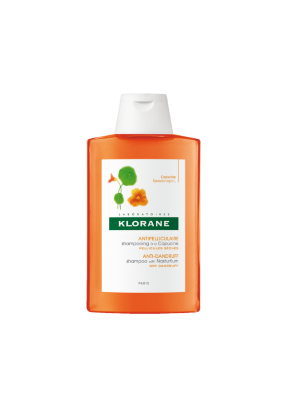 КЛОРАН Шампоан с екстракт от латинка против сух пърхот 200мл   KLORANE Anti-dry dandruff Shampoo with Nasturtium 200ml