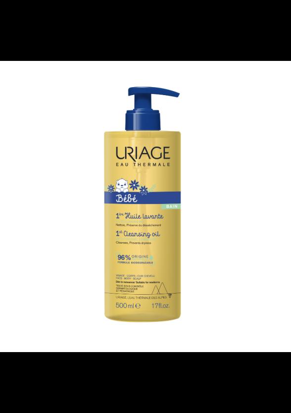 ЮРИАЖ БЕБЕ Измиващо защитно гел-олио 500мл | URIAGE BABY 1st cleansing oil 500ml