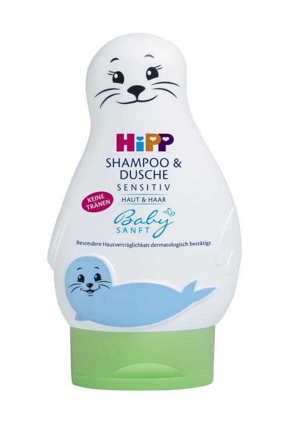 ХИП БЕЙБИЗАНФТ Шампоан за коса и тяло Тюленче 200мл   HIPP BABYSANFT Hair and body shampoo Seal 200ml
