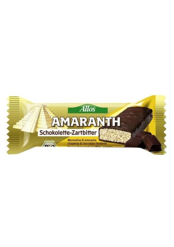 БИО Амарант Бар с Натурален шоколад 25гр АЛОС   BIO Amaranth Bar with Dark Chocolate 25g ALLOS