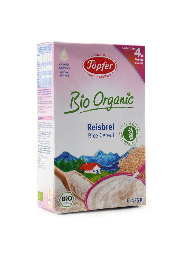 TЬОПФЕР БИО ОРГАНИК Безмлечна оризова каша 4+ 175гр | TOPFER BIO ORGANIC Rice cereal 4+ 175g