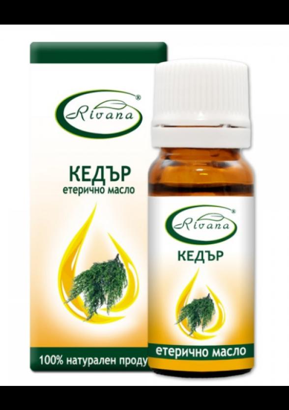 РИВАНА Етерично масло от КЕДЪР 10мл   RIVANA JUNIPERUS VIRGINIANA Essential oil 10ml