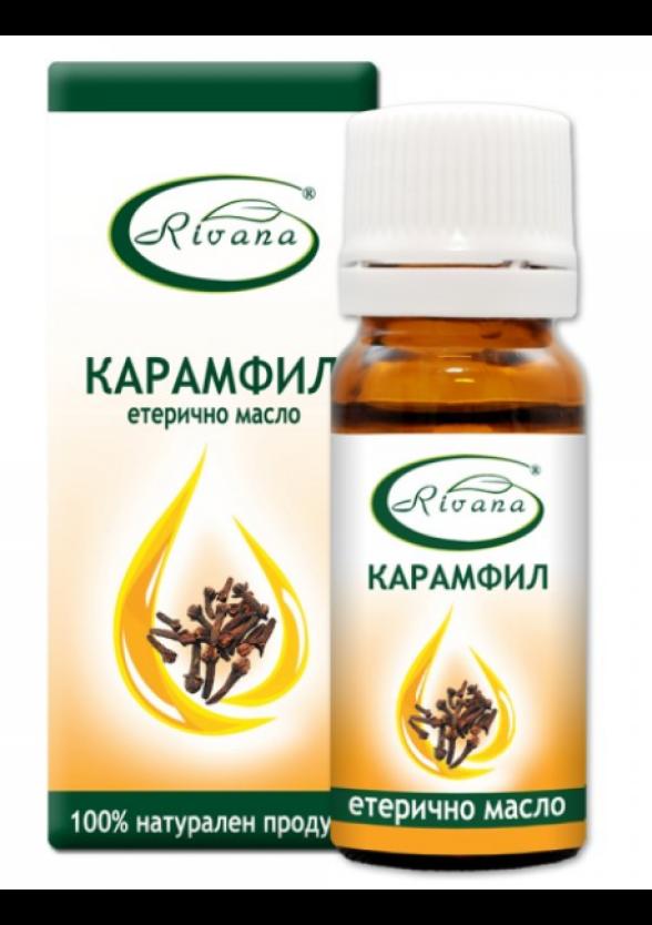 РИВАНА Етерично масло от КАРАМФИЛ 10мл   RIVANA EUGENIA CARYOPHYLLATA Essential oil 10ml