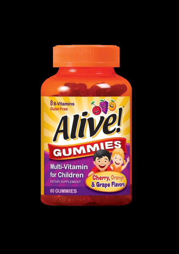 Желирани мултивитамини за деца АЛАЙВ НЕЙЧЪР'С УЕЙ x 60 табл.  | Multivitamins Gummies for kids ALIVE NATURE'S WAY x 60 tabs