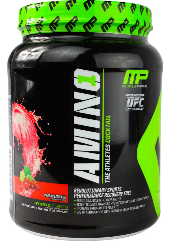 АМИНО1 - ЧЕРИ ЛАЙМ прах 718г МЪСЪЛФАРМ | AMINO1 - CHERRY LIME pwd 718g MUSCLEPHARM