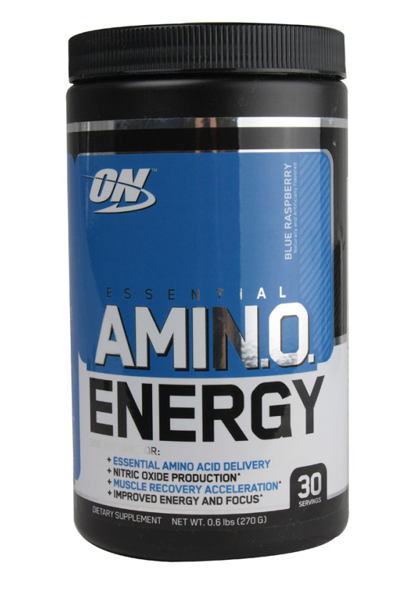 АМИНО ЕНЕРДЖИ – СИНЯ МАЛИНА прах 270г ОПТИМУМ НУТРИШЪН | AMINO ENERGY – BLUE RASPBERRY pwd 270g OPTIMUM NUTRITION