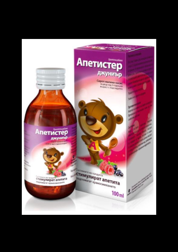АПЕТИСТЕР ДЖУНИЪР сироп за деца х 100мл | APETISTER JUNIOR syrup x 100ml