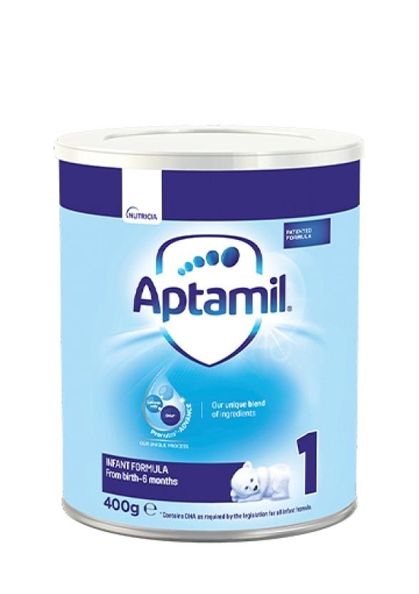 АПТАМИЛ 1 с Pronutra+ Мляко за кърмачета 0-6 м. 400гр. | APTAMIL 1 with Pronutra+ Infant formula 0-6 m 400g