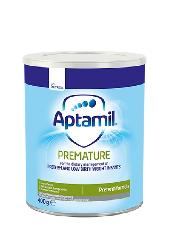 АПТАМИЛ ПРЕМАТЮЪР с Pronutra+ Мляко за недоносени бебета 0+ месеца 400гр.   APTAMIL PREMATURE with Pronutra+ Infant formula 0+ 400g