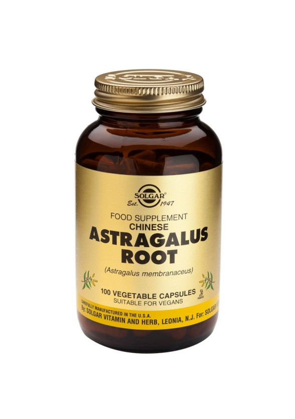АСТРАГАЛУС растителни капсули 100 бр. СОЛГАР | ASTRAGALUS vegetable caps 100 s. SOLGAR