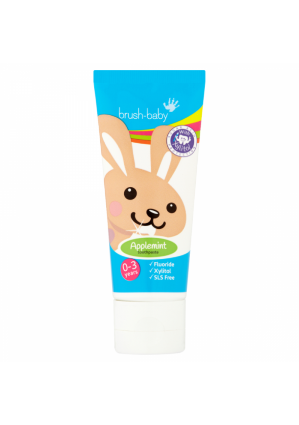 БРЪШ-БЕЙБИ ЕПЪЛМИНТ Паста за зъби за деца 0-3 г. 50мл. | BRUSH-BABY APPLEMINT Toothpaste for kids 0-3 50ml