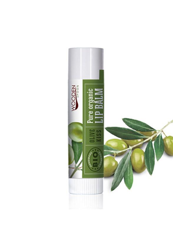 УДЪН СПУУН Балсам за устни Olive kiss 4,3мл | WOODEN SPOON Lip Balm Olive Kiss 4,3ml