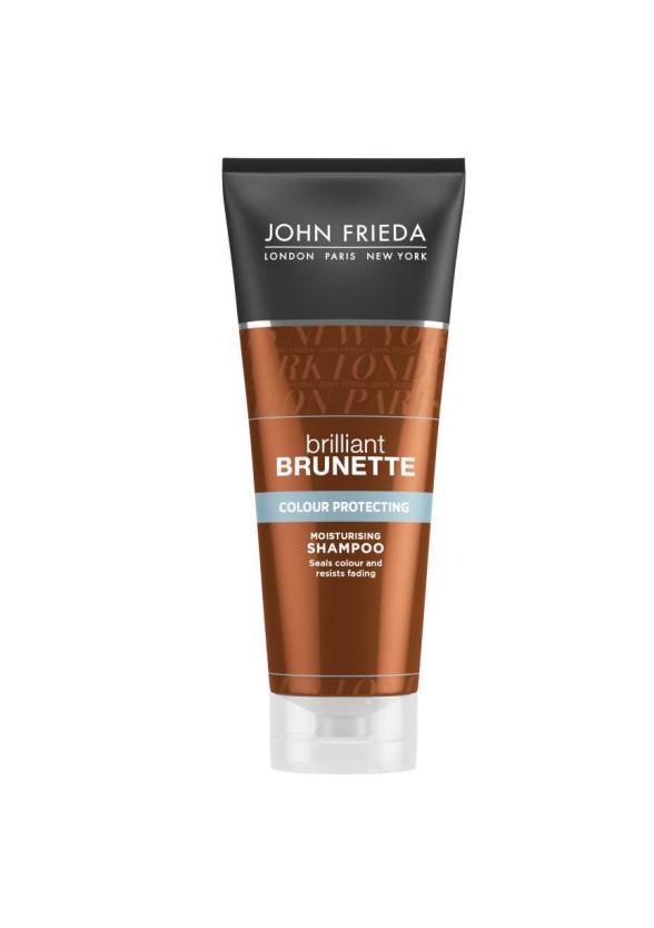 ДЖОН ФРИДА БРИЛЯНТ БРЮНЕТ Хидратиращ шампоан за тъмна коса 250мл   JOHN FRIEDA BRILLIANT BRUNETTE Release moisturizing shampoo for all brunette shades 250ml