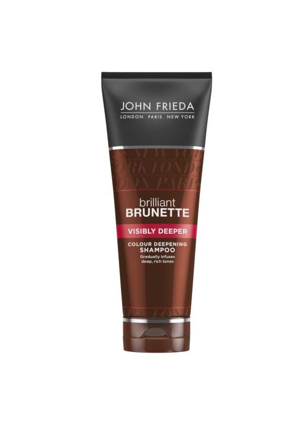 ДЖОН ФРИДА БРИЛЯНТ БРЮНЕТ Шампоан за видимо потъмняване на косата 250мл   JOHN FRIEDA BRILLIANT BRUNETTE Visisbly deeper shampoo 250ml