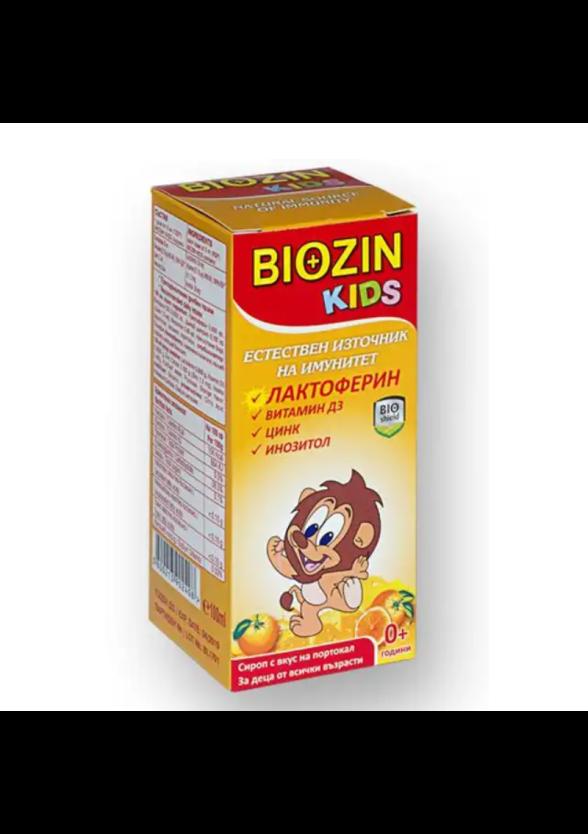 БИОЗИН КИДС Сироп за деца с лактоферин х 100мл БИОШИЛД   BIOZIN KIDS Syrup with lactopherine x 100ml BIOSHIELD