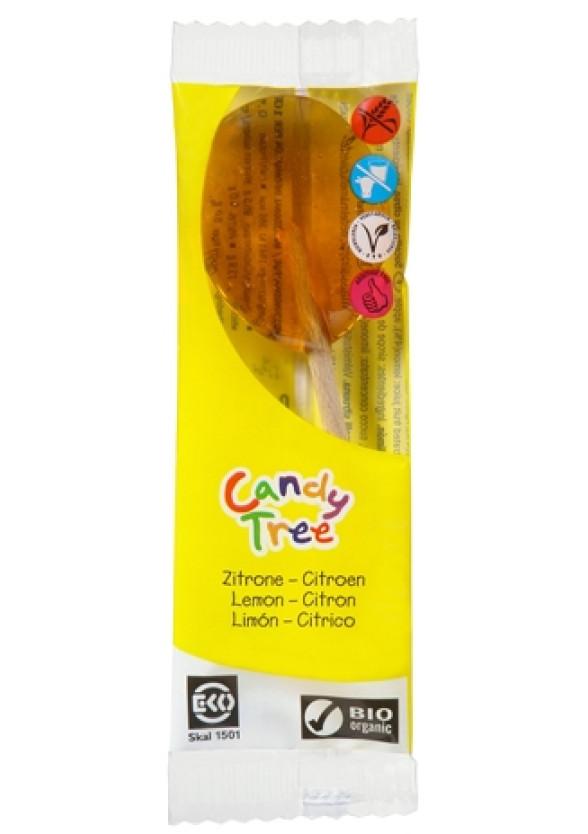 БИО Близалка Лимон 1бр x 13гр КЕНДИ ТРИ   BIO Lollipop Lemon 1s x 13g CANDY TREE
