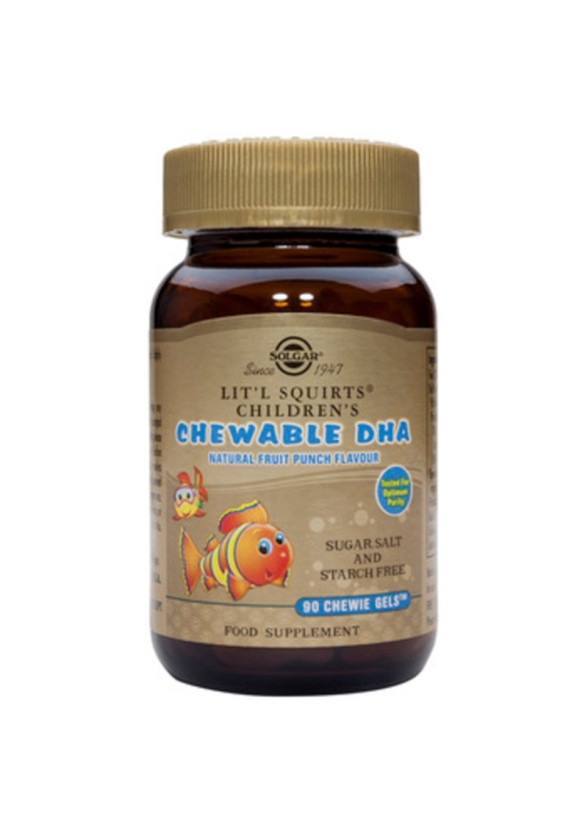 ДХА ЗА ДЪВЧЕНЕ ЗА ДЕЦА 90 желирани таблетки за дъвчене СОЛГАР | CHILDREN'S CHEWABLE DHA 90 chewie-gels SOLGAR