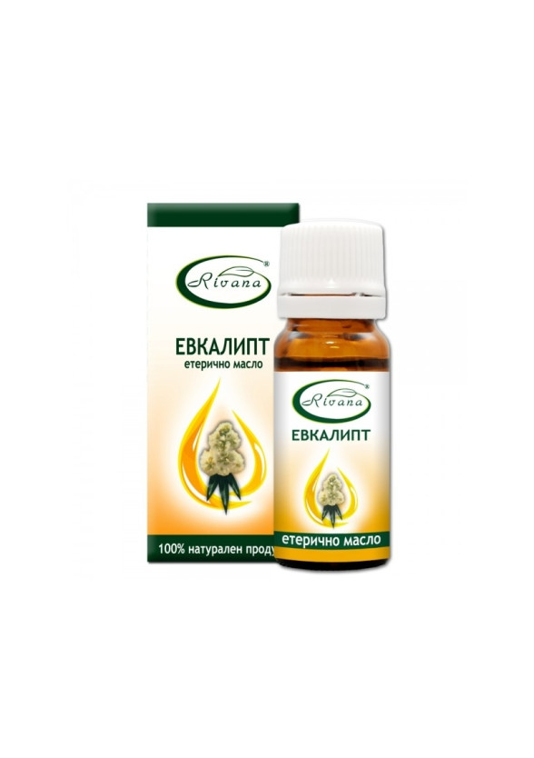 РИВАНА Етерично масло от ЕВКАЛИПТ 10мл | RIVANA EUCALYPTUS Essential oil 10ml
