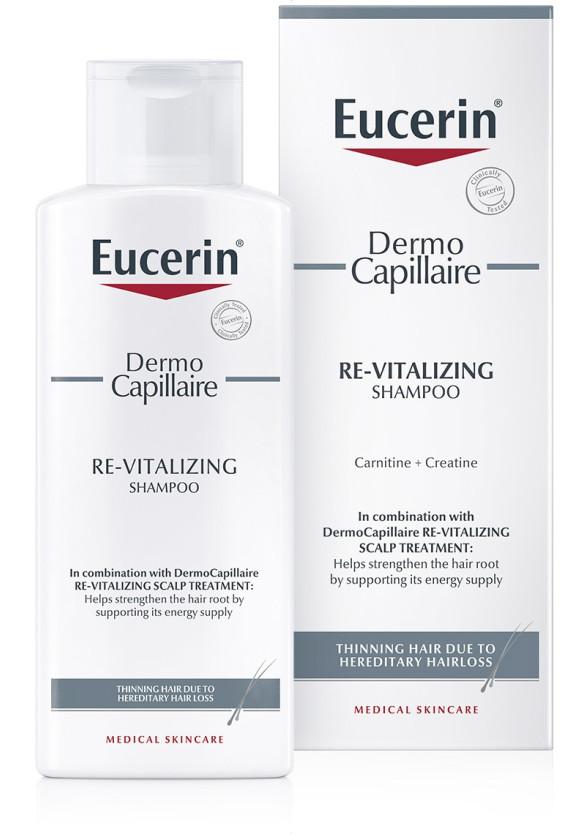 ЮСЕРИН ДЕРМОКАПИЛЯР Ревитализиращ шампоан 250мл   EUCERIN DERMOCAPILLIARE Revitalizing shampoo 250ml