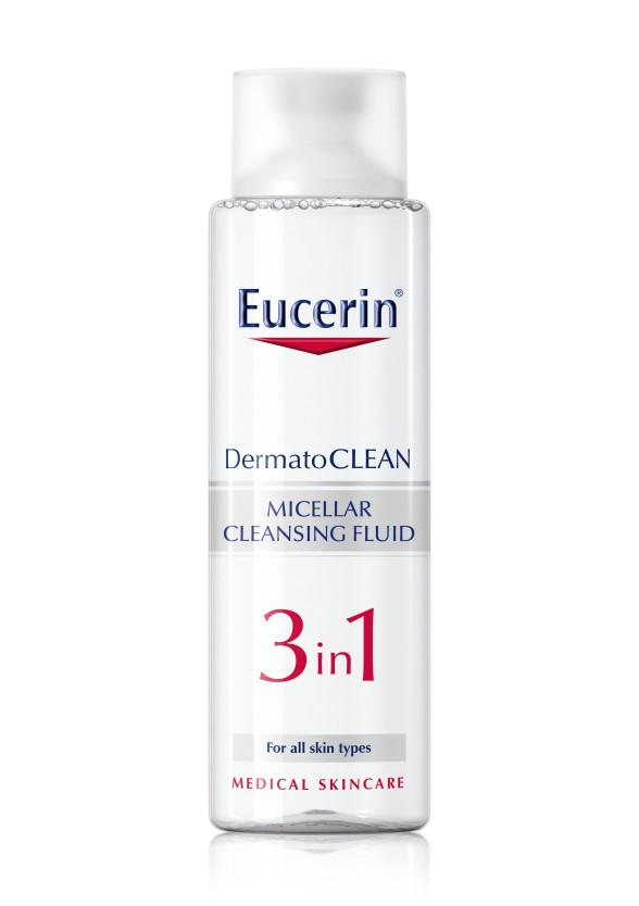 ЮСЕРИН DERMATO CLEAN Мицерален разтвор 3 в 1 400мл | EUCERIN DERMATO CLEAN Miscellar fluid 3 in 1 400ml