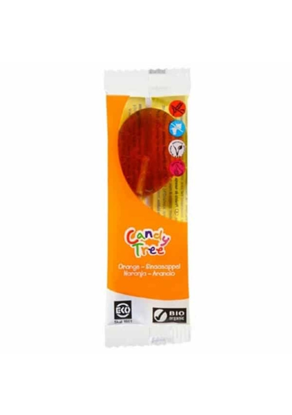 БИО Близалка Портокал 1бр x 13гр КЕНДИ ТРИ   BIO Lollipop Orange 1s x 13g CANDY TREE