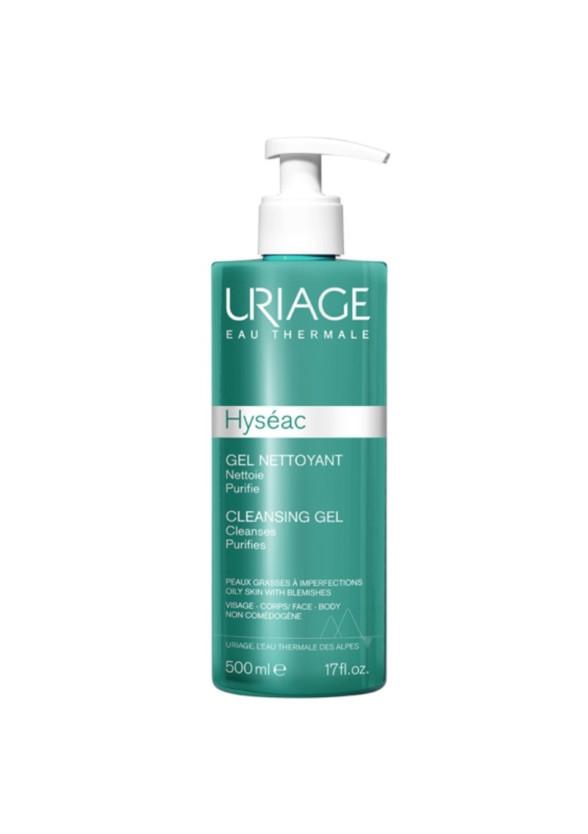 ЮРИАЖ ХИСЕАК Измиващ гел 500мл | URIAGE HYSEAC Cleansing gel 500ml