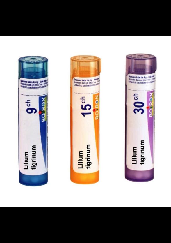ЛИЛИУМ ТИГРИНУМ 9CH, 15CH, 30CH гранули 4гр. БОАРОН | LILIUM TIGRINUM 9CH, 15CH, 30CH pillules 4g BOIRON