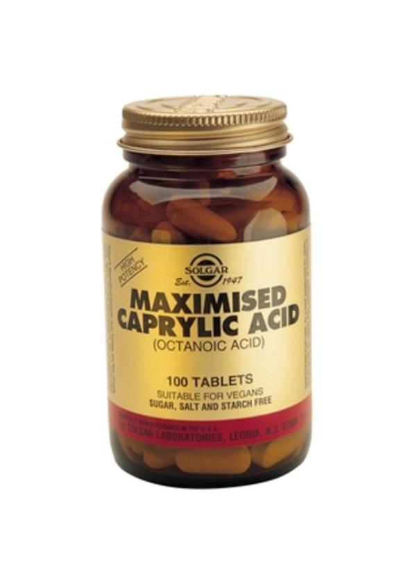 КАПРИЛОВА КИСЕЛИНА таблетки 100бр | CAPRYLIC ACID tabs 100s SOLGAR