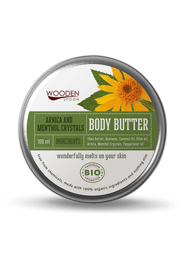 УДЪН СПУУН Крем за тяло Menthol Crystals 100мл | WOODEN SPOON Body Butter Arnica & Menthol 100ml