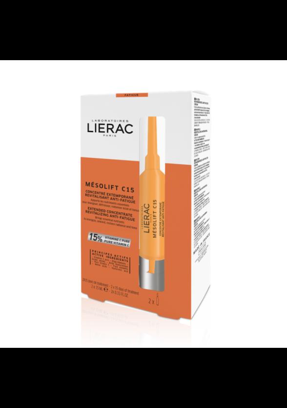 ЛИЕРАК МЕЗОЛИФТ C15 Концентрат за тонизиране и блясък 2 x 15мл | LIERAC MESOLIFT C152 x 15ml