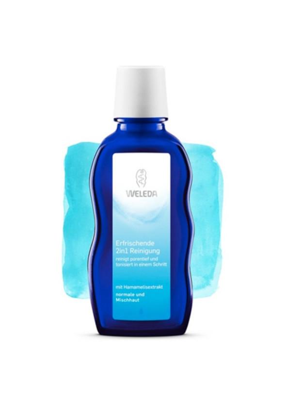 ВЕЛЕДА Освежаващ почистващ лосион (2 в 1) за нормална и комбинирана кожа 100мл | WELEDA Erfrischende 2in1 reinigung 100ml