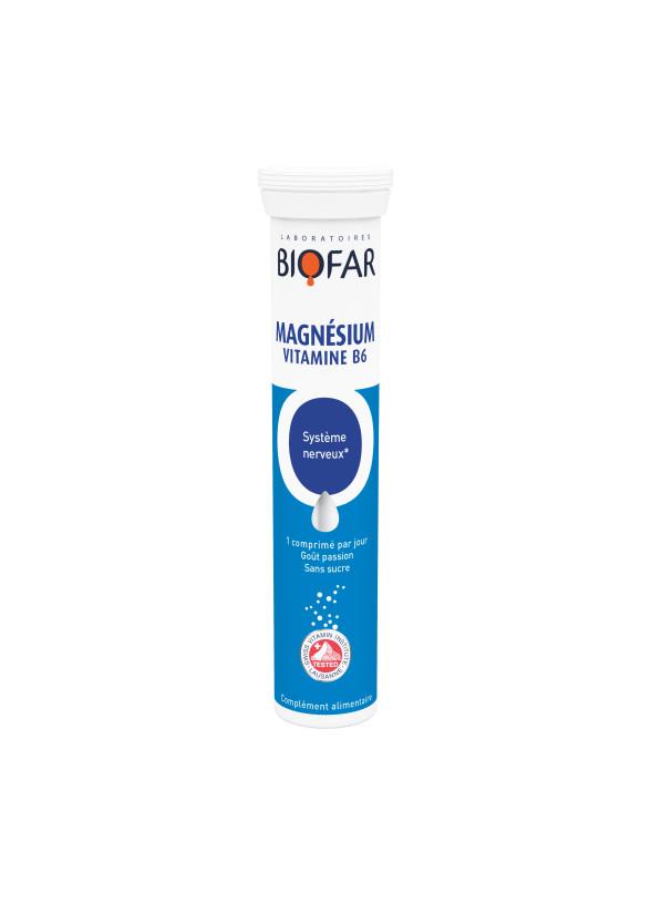 Магнезий + Витамин Б6 х 20 ефф.табл БИОФАР | Magnesium + Vitamin B6 x 20 eff tabs BIOFAR