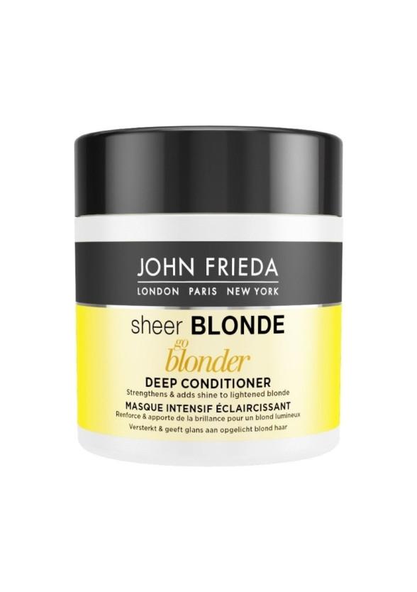 ДЖОН ФРИДА ШИР БЛОНД Изсветляваща маска за руса коса 150мл   JOHN FRIEDA SHEER BLONDE GO BLONDER Lightening deep conditioner 150ml