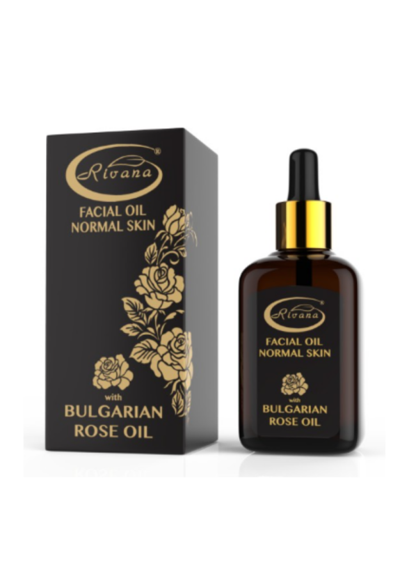 Масло за лице за нормална кожа с БЪЛГАРСКО РОЗОВО МАСЛО 30мл РИВАНА   Facial oil for normal skin with BULGARIAN ROSE OIL 30ml RIVANA