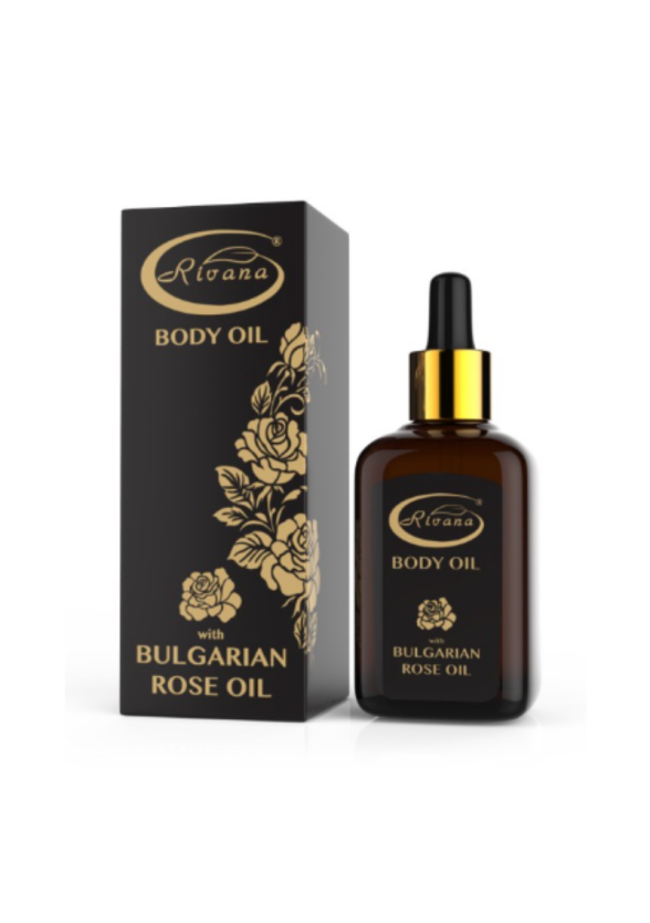 Масло за тяло с БЪЛГАРСКО РОЗОВО МАСЛО 50мл РИВАНА   Body oil with BULGARIAN ROSE OIL 50ml RIVANA