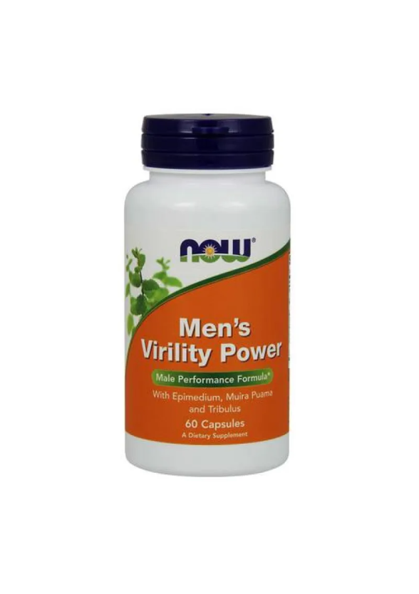 МЕН'С ВИРИЛИТИ ПАУЪР капсули 60 бр. НАУ ФУУДС | MEN'S VIRILITY POWER caps 60s NOW FOODS