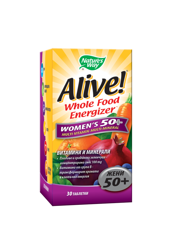 АЛАЙВ Мултивитамини за жени 50+ 30бр. табл. НЕЙЧЪР'С УЕЙ | ALIVE Women's 50+ multivitamins 30s NATURE'S WAY