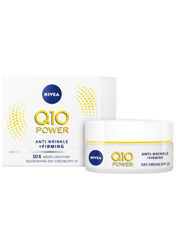 НИВЕА Q10+ ПАУЪР Дневен крем против бръчки SPF15 50мл | NIVEA Q10+ POWER Anti-wrinkle moistiruzing day SPF15 50ml