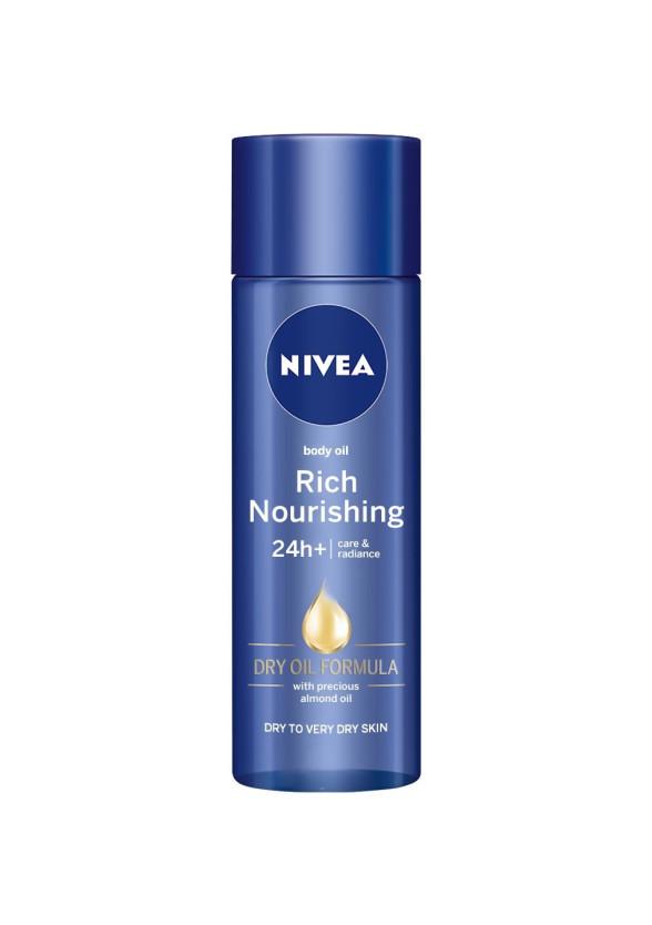 НИВЕА Сухо олио за тяло, 24+ч хидратация 200мл   NIVEA Rich nourishing body oil, 24+h 200ml