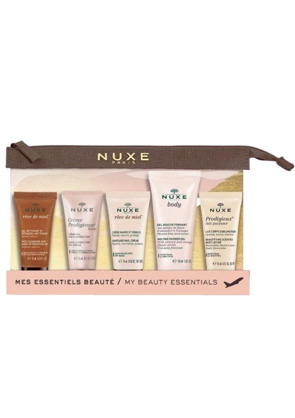"""НУКС КОМПЛЕКТ Несесер за пътуване с 5 продукта   NUXE TRAVEL KIT """"My beauty essentials"""" with 5 minis"""