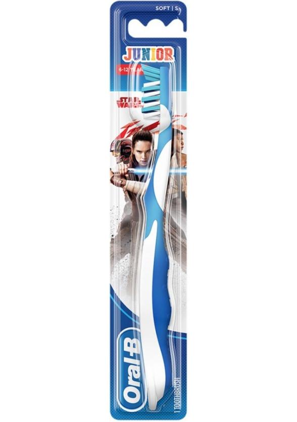 Детска четка за зъби СТЕЙДЖЕС 3 6-12 години (Междузвездни войни) ОРАЛ-Б | Toothbrush KIDS STAGES 3 6-12 years (Star wasrs) ORAL-B