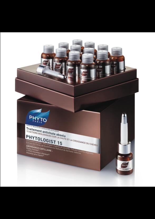 ФИТО ФИТОЛОДЖИСТ 15 Комплексна терапия против косопад 12 ампули х3.5мл | PHYTO PHYTOLOGIST 15 Anti-hair loss treatment 12x3.5ml