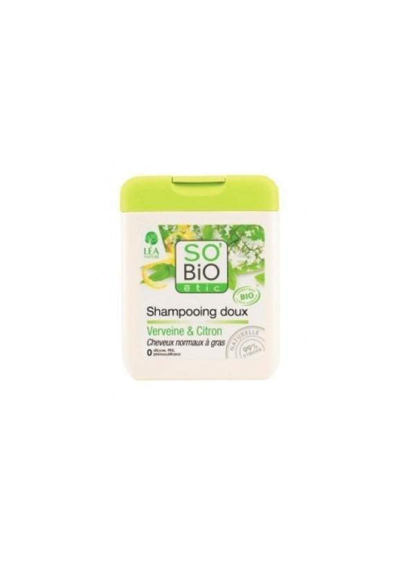 СО'БИО Шампоан за коса с Върбинка и Лимон 250мл | SO'BIO Shampoo with Verbena and Lemon 250ml