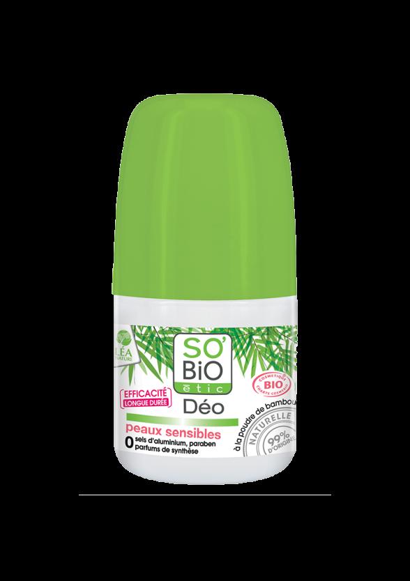 СО'БИО Бамбуков дезодорант за чувствителна кожа 50мл | SO'BIO Bamboo deodorant for sensitive skin 50ml