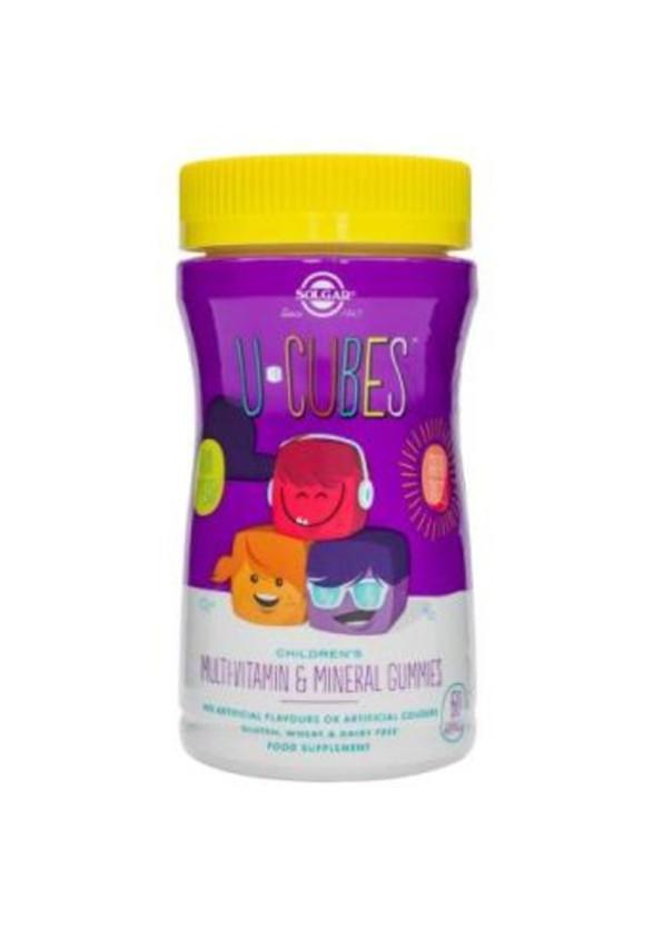 U CUBES, 60 дъвчащи дражета (череша, портокал, грозде) СОЛГАР | U CUBES GUMMIES 60s (cherry, orange, grape) SOLGAR