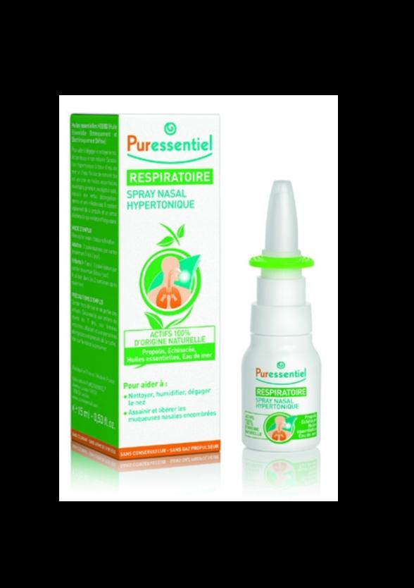 ПЮРЕСЕНШЪЛ Назален хипертоничен спрей 15мл | PURESSENTIEL Nasal Hypertonique Spray 15ml