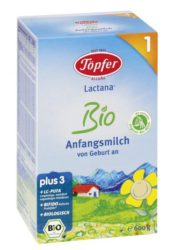 ЛАКТАНА БИО 1 Мляко за кърмачета 0+ м. 600гр. | LACTANA BIO 1 Infant formula 0+ m 600g