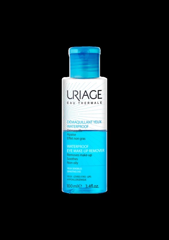 ЮРИАЖ Двуфазен лосион за премахване на водоустойчив грим 100мл | URIAGE Waterproof eye makeup remover 100ml