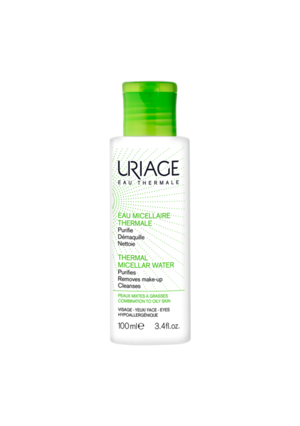 ЮРИАЖ Термална мицеларна вода за комбинирана към мазна кожа 100мл   URIAGE Thermal micellar water for mixed to oily skin 100ml