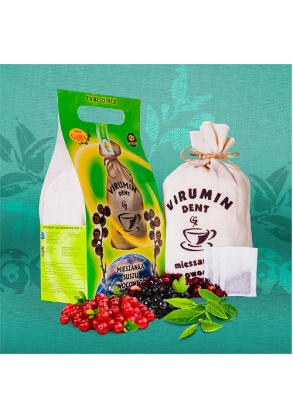 ВИРУМИН-ДЕНТ с червена боровинка, филтърни торбички 15бр x 2.5гр (37.5гр общо) ПВМ ГАМА   VIRUMIN-DENT with cranberry, filter bags 15s x 2.5g (37.5g total) PWM GAMA